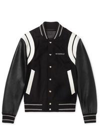 schwarze und weiße Collegejacke von Givenchy