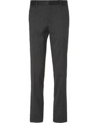 schwarze und weiße gepunktete Anzughose von Dolce & Gabbana