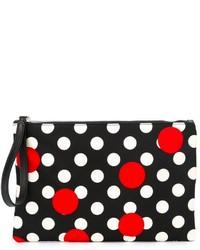 schwarze und weiße gepunktete Clutch von RED Valentino