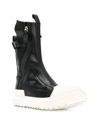 schwarze und weiße hohe Sneakers aus Leder von Artselab
