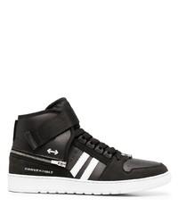 schwarze und weiße hohe Sneakers aus Leder von Neil Barrett