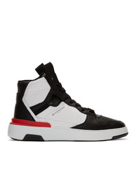 schwarze und weiße hohe Sneakers von Givenchy