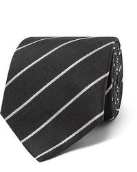 schwarze und weiße horizontal gestreifte Krawatte von The Row