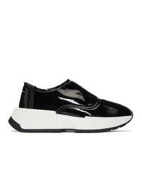 schwarze und weiße klobige Slip-On Sneakers von MM6 MAISON MARGIELA