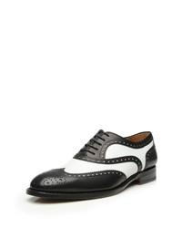 schwarze und weiße Leder Brogues von SHOEPASSION