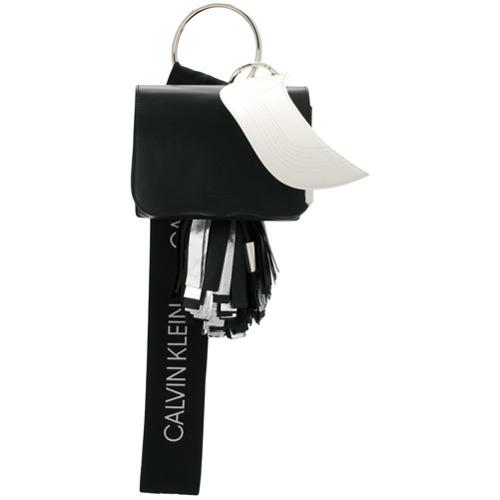schwarze und weiße Leder Clutch von Calvin Klein 205W39nyc