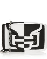 schwarze und weiße Leder Clutch von Pierre Hardy