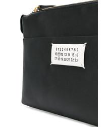 schwarze und weiße Leder Clutch von Maison Margiela