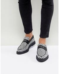 schwarze und weiße Leder Slipper von ASOS DESIGN