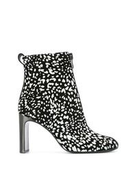 schwarze und weiße Leder Stiefeletten von Rag & Bone