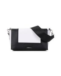 schwarze und weiße Leder Umhängetasche von EMILY & NOAH