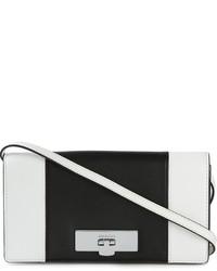 schwarze und weiße Leder Umhängetasche von MICHAEL Michael Kors