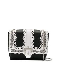 schwarze und weiße Leder Umhängetasche von Paula Cademartori