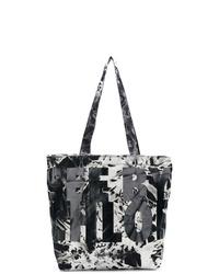 schwarze und weiße Mit Batikmuster Shopper Tasche aus Segeltuch von See by Chloe