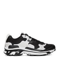 schwarze und weiße niedrige Sneakers von 11 By Boris Bidjan Saberi
