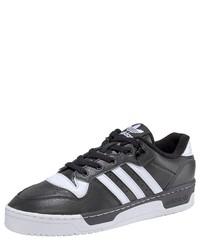 schwarze und weiße niedrige Sneakers von adidas Originals
