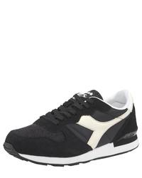 schwarze und weiße niedrige Sneakers von Diadora