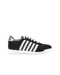 schwarze und weiße niedrige Sneakers von Dsquared2