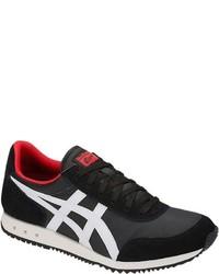 schwarze und weiße niedrige Sneakers von Onitsuka Tiger