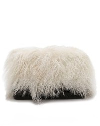 schwarze und weiße Pelz Clutch