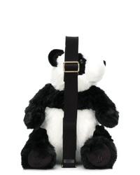 schwarze und weiße Pelz Umhängetasche von Dolce & Gabbana