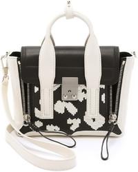 schwarze und weiße Satchel-Tasche aus Leder von 3.1 Phillip Lim