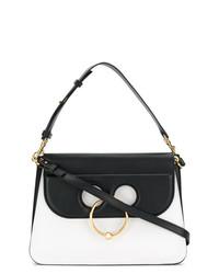 schwarze und weiße Satchel-Tasche aus Leder von JW Anderson