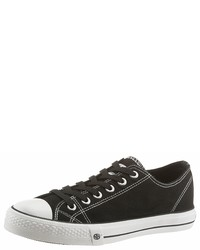 schwarze und weiße Segeltuch niedrige Sneakers von Dockers by Gerli