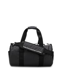 schwarze und weiße Segeltuch Sporttasche von Diesel