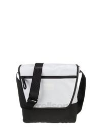 schwarze und weiße Segeltuch Umhängetasche von Strellson