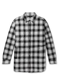 schwarze und weiße Shirtjacke mit Karomuster von Acne Studios
