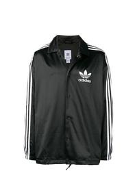 schwarze und weiße Shirtjacke von adidas
