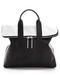 schwarze und weiße Shopper Tasche aus Leder von 3.1 Phillip Lim