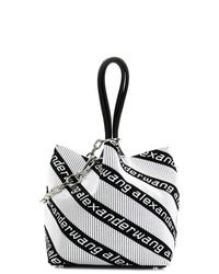 schwarze und weiße Shopper Tasche aus Leder von Alexander Wang