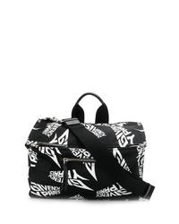 schwarze und weiße Shopper Tasche aus Leder von Givenchy