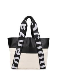 schwarze und weiße Shopper Tasche aus Leder von Proenza Schouler