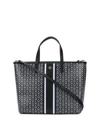 schwarze und weiße Shopper Tasche aus Leder von Tory Burch