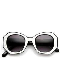 schwarze und weiße Sonnenbrille
