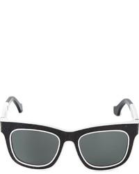 schwarze und weiße Sonnenbrille von Balenciaga