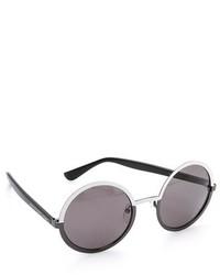 schwarze und weiße Sonnenbrille von Marc by Marc Jacobs