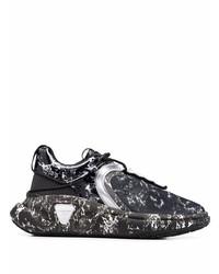 schwarze und weiße Sportschuhe von Balmain