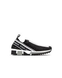 schwarze und weiße Sportschuhe von Dolce & Gabbana