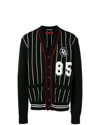 schwarze und weiße Strickjacke von Dolce & Gabbana
