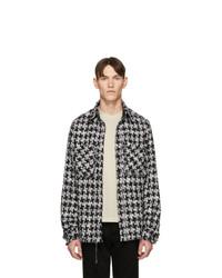schwarze und weiße Tweed Shirtjacke von Faith Connexion