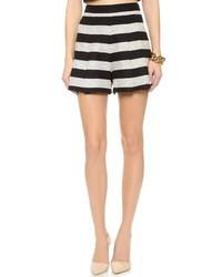 schwarze und weiße Tweed Shorts