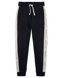 schwarze und weiße vertikal gestreifte Jogginghose von Gant
