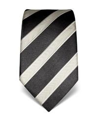 schwarze und weiße vertikal gestreifte Krawatte von Vincenzo Boretti