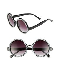 schwarze und weiße verziert mit Perlen Sonnenbrille