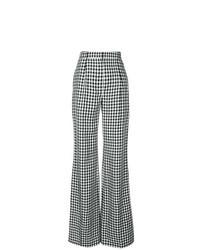 schwarze und weiße weite Hose mit Karomuster