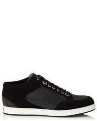 schwarze und weiße Wildleder niedrige Sneakers